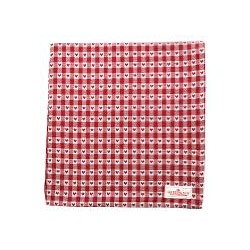 19 Tablecloth Heart petit red 145x250cm