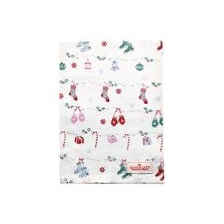 19 Tea towel Jingle bell white