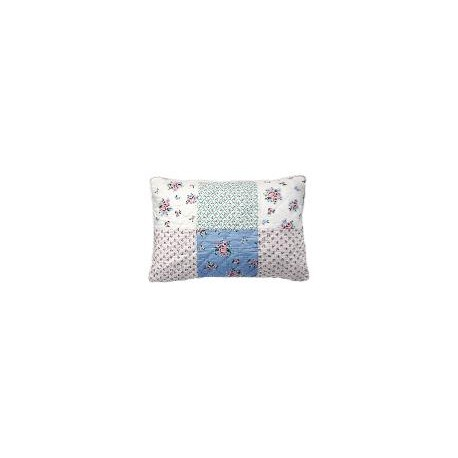 19 Cushion Nicoline white patchwork 40x60cm