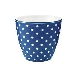 19 Latte cup Spot blue