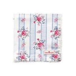 19 Napkin with lace Fiona pale blue