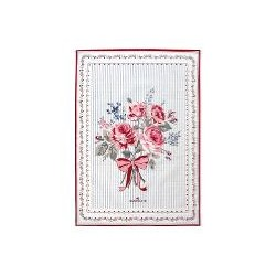 19 Tea towel Elisabeth white pieceprinted