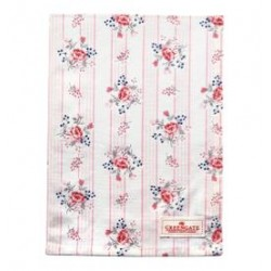 19 Tea towel Fiona pale pink