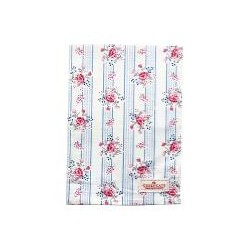 19 Tea towel Fiona pale blue
