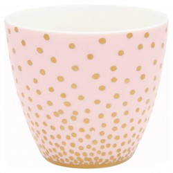 GG20 Latte cup Gold spot peach