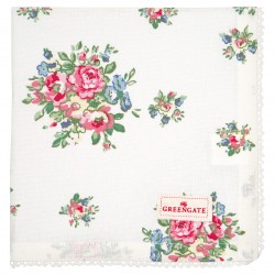 GG20 Napkin with lace Franka white