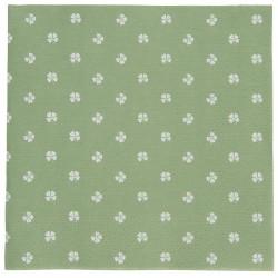 Serviette grün vierblättrige Kleeblätter