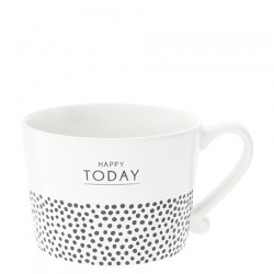 KUBEK  Happy Today & dots in Black BASTION COLLECTIONS