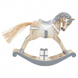gg  Decoration rocking horse grey medium