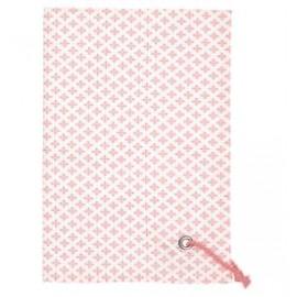 RĘCZNIK KUCHENNY Tea towel Sasha peach w/rope string GREEN GATE