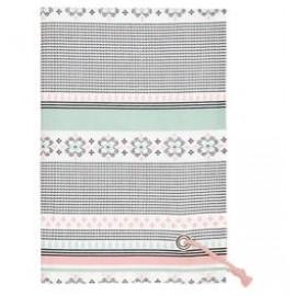 RĘCZNIK KUCHENNY Tea towel Nola white w/rope string GREEN GATE