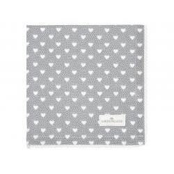 GG Napkin with lace Penny grey