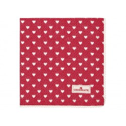 GG Napkin with lace Penny red