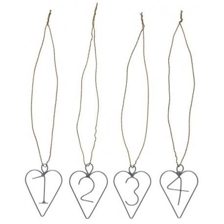 Hanger 1-4 heart w/wire