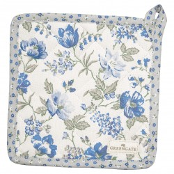 Pot holder Donna blue set of 2pcs
