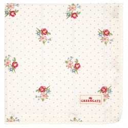 GG Napkin with lace Eja white