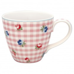 GG Mug Viola check pale pink