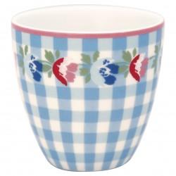 GG Mini latte cup Viola check pale blue