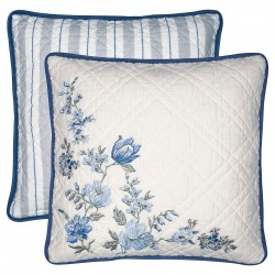 GG Cushion Donna blue w/embroidery 40x40cm