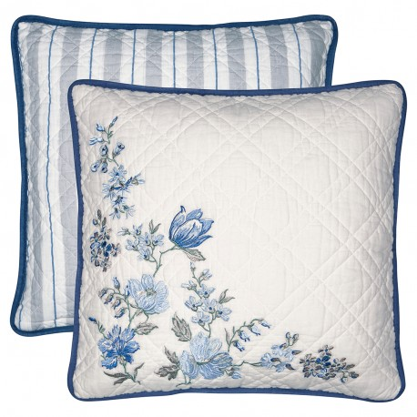 GG Cushion Donna blue w/embroidery 40x40cm