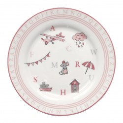 GG Kids plate Charlie pink