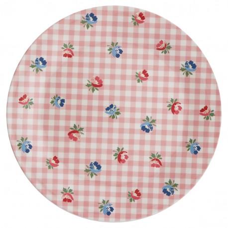 GG Plate Viola check pale pink