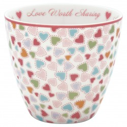 KUBEK LATTE CUP LOVE PASTEL MIX GREEN GATE