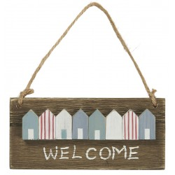 Holzschild Welcome