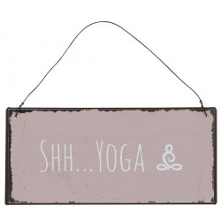 Metallschild Shh Yoga