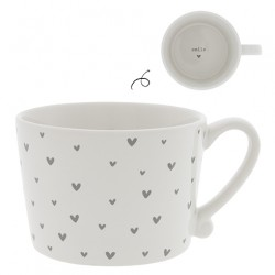 KUBEK little Hearts in Grey BASTION COLLECTIONS