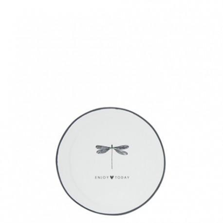 SPODECZEK  9cm White/Dragonfly Enjoy today BLACK BASTION COLLECTIONS