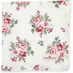 Napkin with lace Charline white