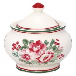Sugar pot round Charline white