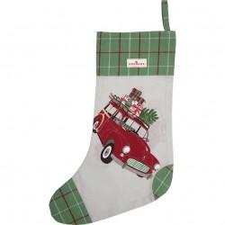 Christmas stocking Christmas car red