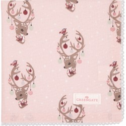 Napkin with lace Dina pale pink