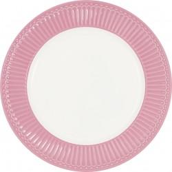Plate Alice dusty rose