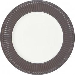 Dinner plate Alice dark chocolate