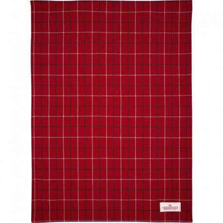 Tea towel Lyla check red