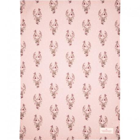 Tea towel Dina pale pink