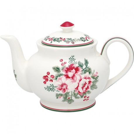 Teapot round Charline white