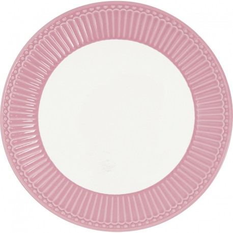 Dinner plate Alice dusty rose