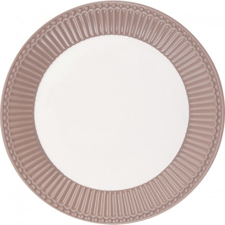 Plate Alice hazelnut brown