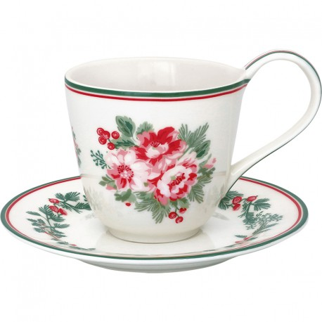 Cup & saucer Charline white